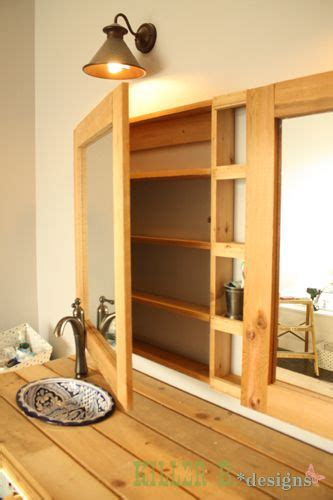 double medicine cabinet   diy build  single