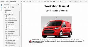2018 Ford Transit Connect Repair Manual