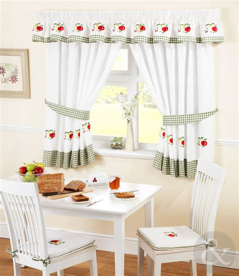 rideaux cuisine moderne ikea kitchen curtains green ready made embroidered