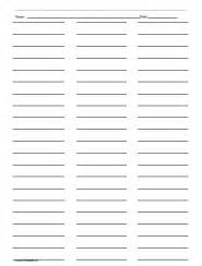 Three Column Line Ruled Templates by Ruled Paper With Three Columns Templates