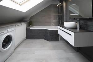 charmant salle de bain sous pente de toit avec salle de With salle de bain sous pente de toit