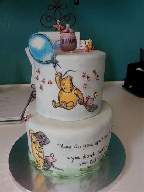 classic winnie  pooh hand painted cake  sweet chile