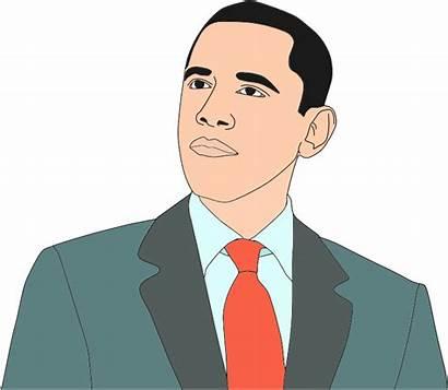 Obama Clipart Barack Vector Clip Portrait African
