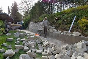 Staudenhalter Selber Machen : steinmauer garten pool hang rasen haus im wald selber ~ Lizthompson.info Haus und Dekorationen