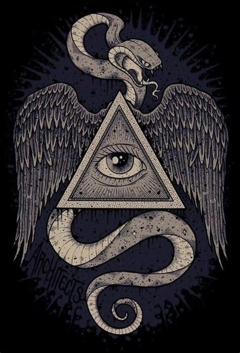 drawn illuminati peace sign pencil   color drawn