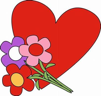 Valentine Clip Valentines Graphics Heart Flowers