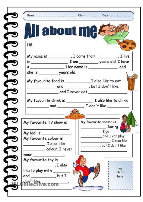 printable worksheets for elementary students printable pages