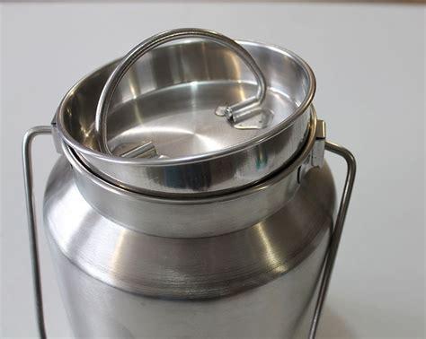 sustainable living  gallon stainless steel milk jug
