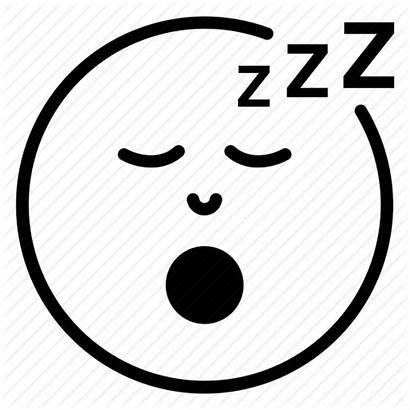 Face Icon Sleeping Tired Sleep Exhausted Coloring