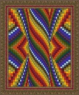 DOUBLE HEART BARGELLO QUILT PATTERN   Quilts & Patterns