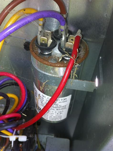 air conditioner capacitor connections  air