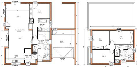plan maison contemporaine etage le monde de léa