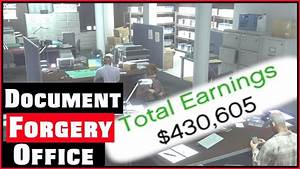 Gta 5 document forgery office youtube for Forged documents gta 5