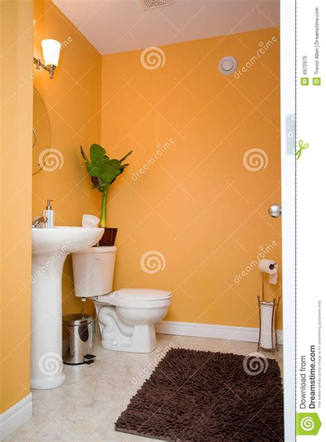 orange bathroom stock image image  germs toilet