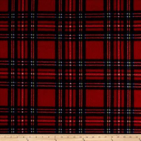 fleece plaid stewart tartan royal discount designer fabric fabric
