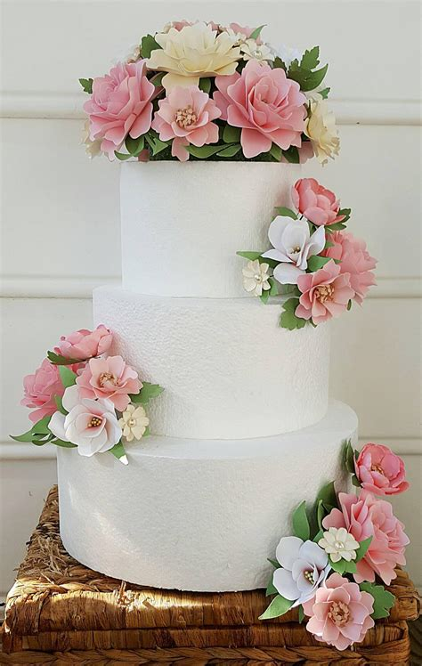 Cake Flowers Flower Wedding Cake Paper Flower Wedding Cake