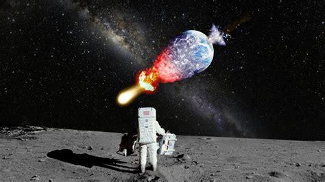 Astronaut Nasa Moon Landing Explosion Galaxy Milky
