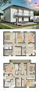 Modernes Haus Grundriss : modernes zweifamilienhaus grundriss mit einliegerwohnung walmdach architektur massivhaus ~ Orissabook.com Haus und Dekorationen