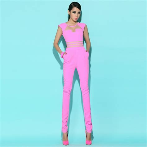 pink jumpsuits pink jumpsuit womens fashion ql