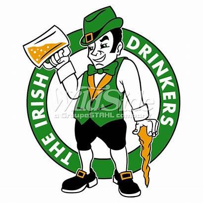 Leprechaun Beer Celtics Boston Irish Lucky Clipart