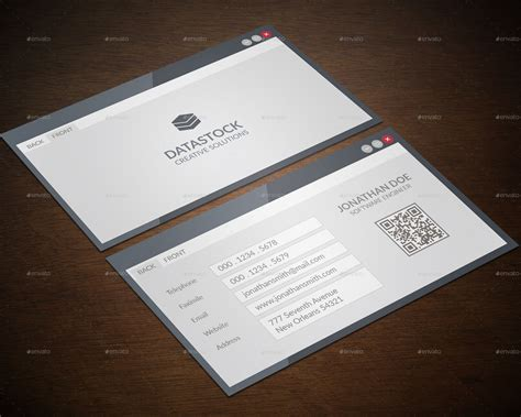 software engineer business card  gowes graphicriver