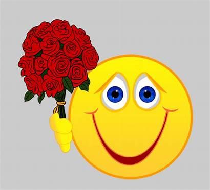 Smiley Flowers Face Happy Emojis Rosen Mit