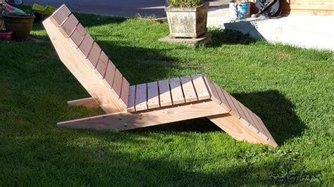 la chaise de bambou chaise longue en douglas menuiserie bertin