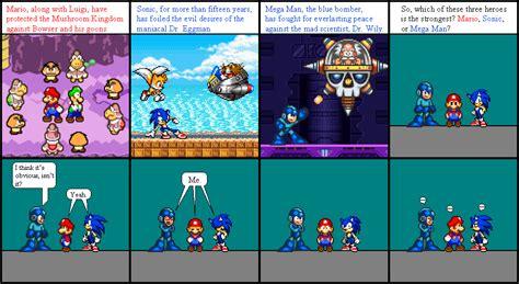 Mario Vs Sonic Vs Mega Man Comics The Beginning