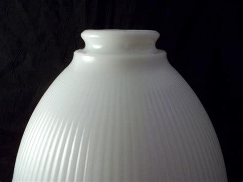 stiffel vintage milk glass torchiere l shade white