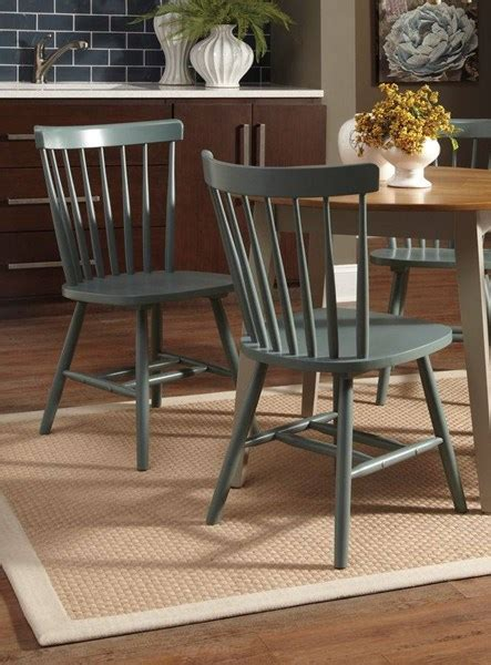 bantilly vintage casual light blue wood dining room