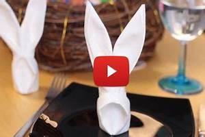 Pliage Serviette Lapin Simple : diy p ques pliage de serviette en lapin origami serviette lapin pliage serviette diy ~ Melissatoandfro.com Idées de Décoration