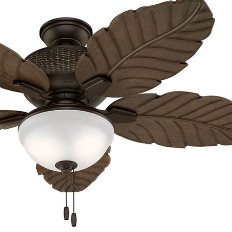 outdoor ceiling fans with led lights hunter fan 52 quot outdoor ceiling fan with led light kit