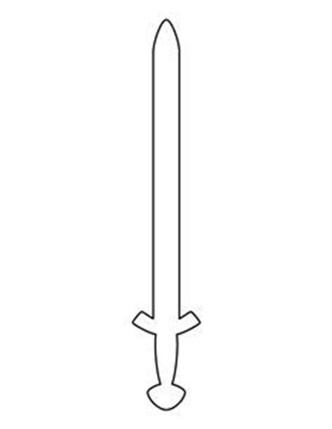 sword template sword pattern use the printable outline for crafts creating stencils scrapbooking and more