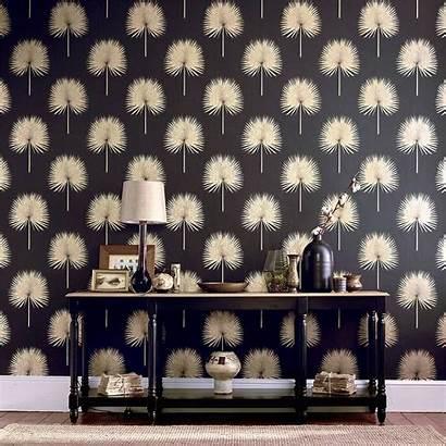 Sanderson Palm Fan Glasshouse Botanical Fabric Gilver
