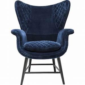 Fauteuil Velours Lipstick : fauteuil tudor velours bleu kare design house ~ Zukunftsfamilie.com Idées de Décoration