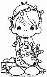 Coloring Angel Xmas Christmas Printable Angels Colouring Disney Precious Moments Cards Children Lights Characters sketch template