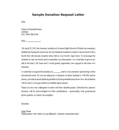 How To Write A Donation Request Letter Template by 43 Free Donation Request Letters Forms Template Lab