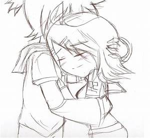 Anime Hugging Sketch | www.pixshark.com - Images Galleries ...
