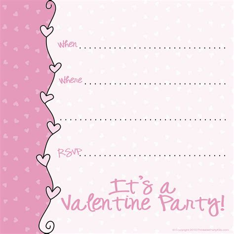 valentine invitation templates