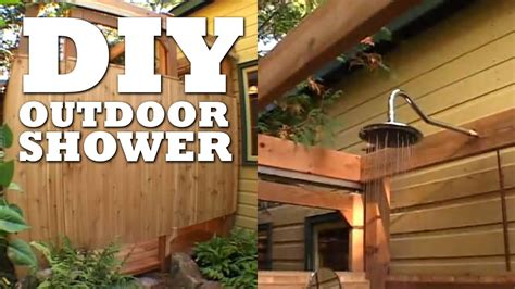 outdoor shower youtube