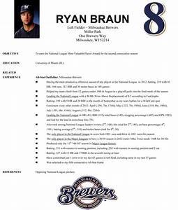 resume format resume format for baseball player With baseball resume template