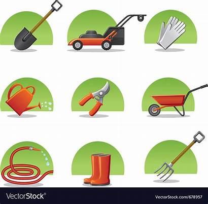 Tools Garden Icons Vector Web Icon Royalty
