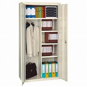 Armoire De Bureau Métallique : armoire bureau penderie monobloc m tallique ~ Melissatoandfro.com Idées de Décoration