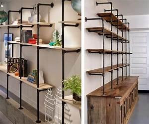 Living Style Möbel : industrial look 26 stylische m bel aus rohrverbindern ~ Watch28wear.com Haus und Dekorationen