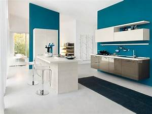 Mur Bleu Pétrole : quelle peinture pour ma cuisine le blog sagne cuisines ~ Melissatoandfro.com Idées de Décoration