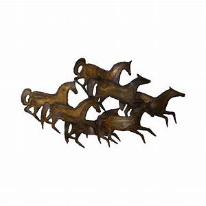 curtis jere mid century metal wall sculpture of horses With kitchen cabinet trends 2018 combined with running horses wall art