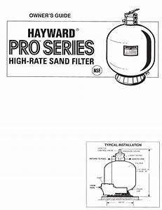 Hayward Pools Swimming Pool Filter S301t User Guide