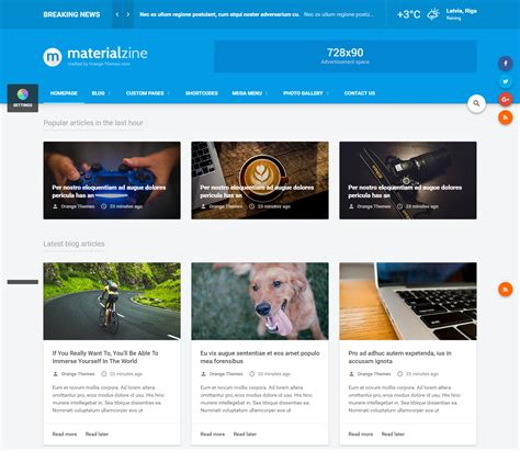the best premium mateial website templates 20 best html templates for your entertainment websites