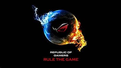Republic Gamers Asus Rog Wallpapers Flame Earth