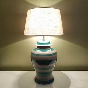 Pied De Lampe Ceramique : imposant pied de lampe en c ramique ray vert g rard danton roche bobois ~ Teatrodelosmanantiales.com Idées de Décoration